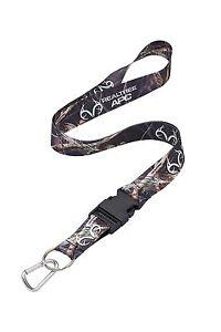Realtree-APC-Black-Camo-Neck-Lanyard-With-Detachable-Key-Ring-amp-Carabiner