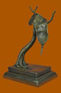 Abstract-Modern-Art-Melting-Clock-Bronze-Sculpture-by-Salvador-bronze-Gift-SALE