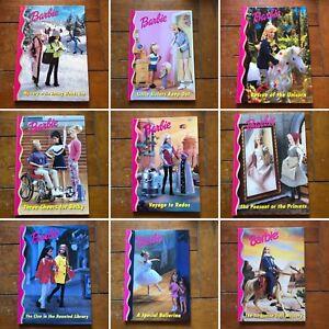 Vintage-Barbie-Hardback-Book-Bundle-1990s-x9-Collectible-Skipper-Memorabilia