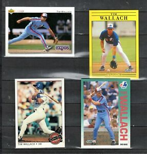EARLY-039-90-039-S-MLB-PLAYER-TIM-WALLACH-LOT-OF-4-CARDS-MINT