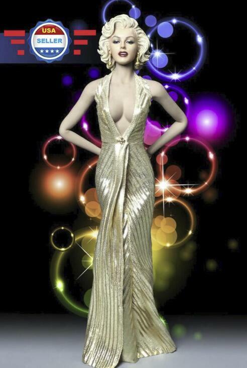 Zapatos De Vestir 1 6 Marilyn Monroe Caballeros prefieren Blondes cabeza esculpida Disfraz Conjunto