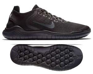 1497d2d4729d7 New NIKE Free RN 2018 Men s Running Shoes triple black dk gray all ...