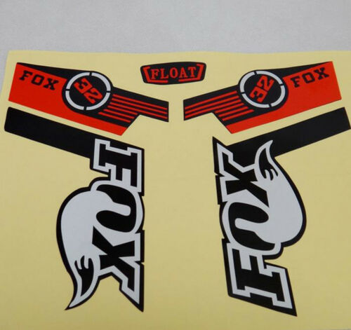 Reflective Road MTB Bike Bicycle Frame Stickers Fox Logo Fork Decals