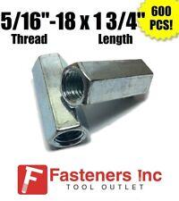 Qty 600 516 18 X W12 X L 1 34 Coarse Grade A Hex Rod Coupling Nut Zinc