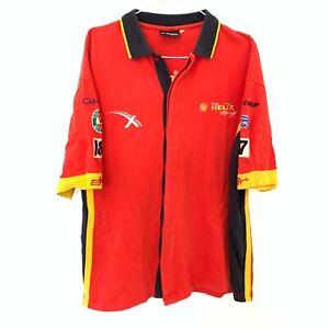 Shell-Helix-Red-Racing-Polo-Shirt-Size-L-VB-V8-Supercars