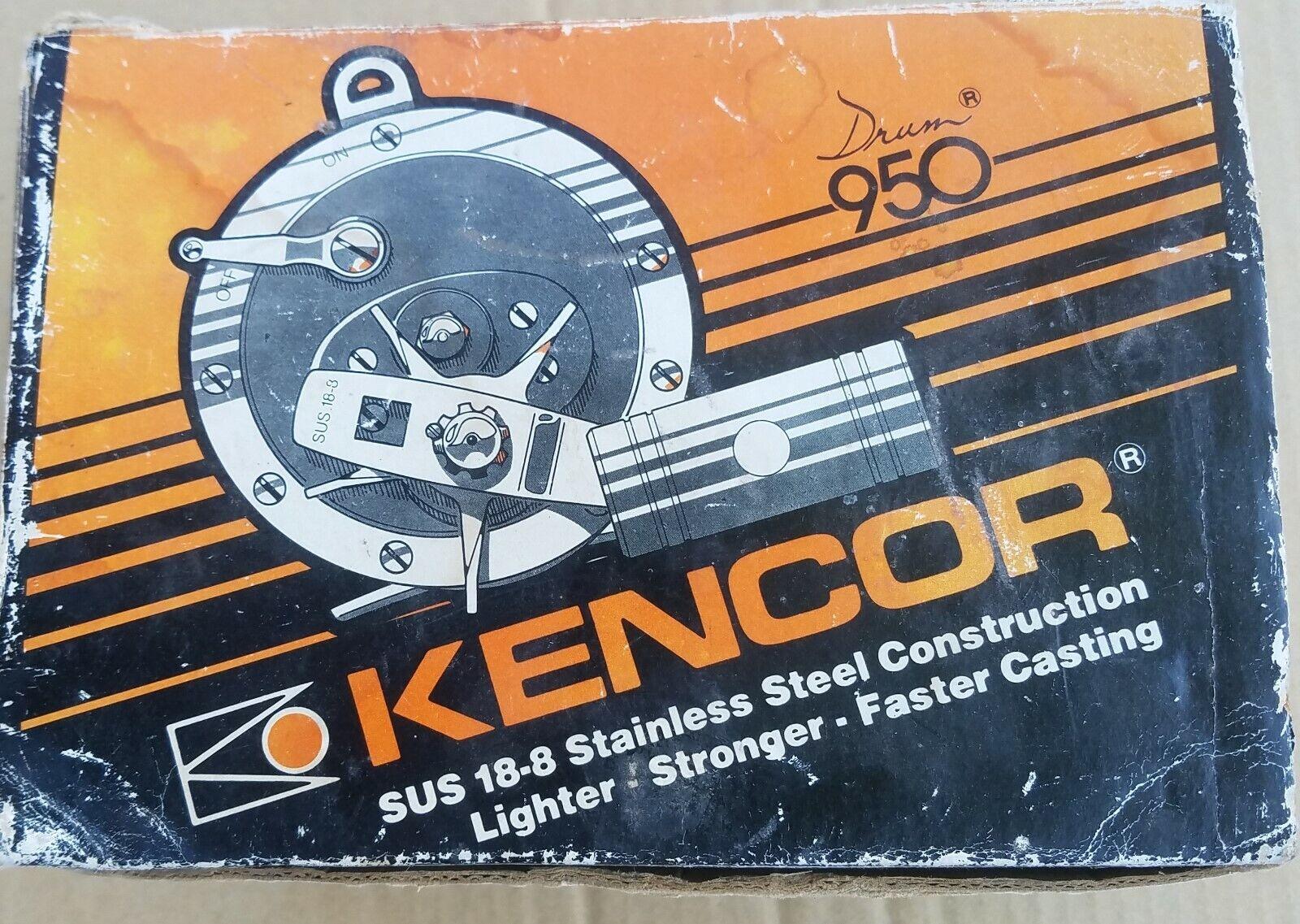 KENCOR NO. 950 DRUM STAINLESS DEEP SEA SALTWATER REEL Wscatola