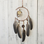 Dream Catcher With Feathers Wooden Owl Wall Hanging Decor Ornament Handmade