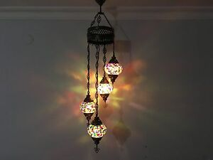 4 ball turkish mosaic chandelierturkish lamp light ebay image is loading 4 ball turkish mosaic chandelier turkish lamp light aloadofball Image collections