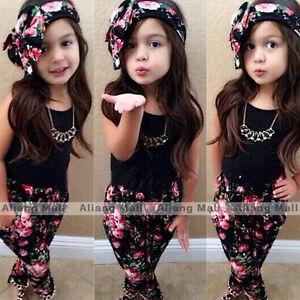 3pcs-Toddler-Infant-Girls-Outfits-Headband-T-shirt-Floral-Pants-Kids-Clothes-Set