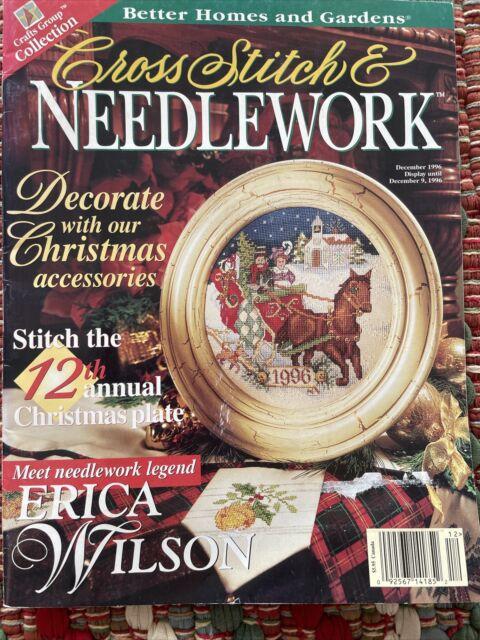 VTG Cross Stitch & Needlework December 1996 Toy Shop, Indian Maiden, Christmas++