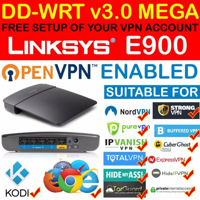 *NEW* FREE VPN ACCOUNT SETUP OPENVPN PPTP DD-WRT MEGA LINKSYS E900 ROUTER