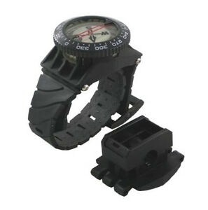 Scuba-Diving-Underwater-Deluxe-Wrist-Compass-with-Hose-Mount