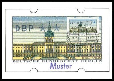 Berlin Atm Mk Schloss Charlottenburg Maximumkarte Carte Maximum Card Mc /m1180 Hohe Sicherheit Automatenbriefmarken