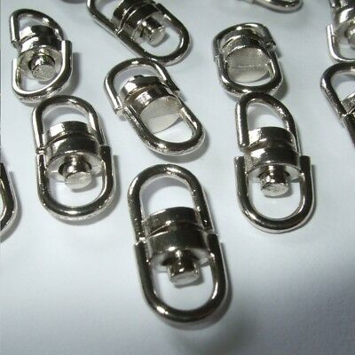 SILVER LOBSTER BAG CLASP KEYRING SC06 QUALITY  SWIVEL CLIP FOR 10mm STRAPPING