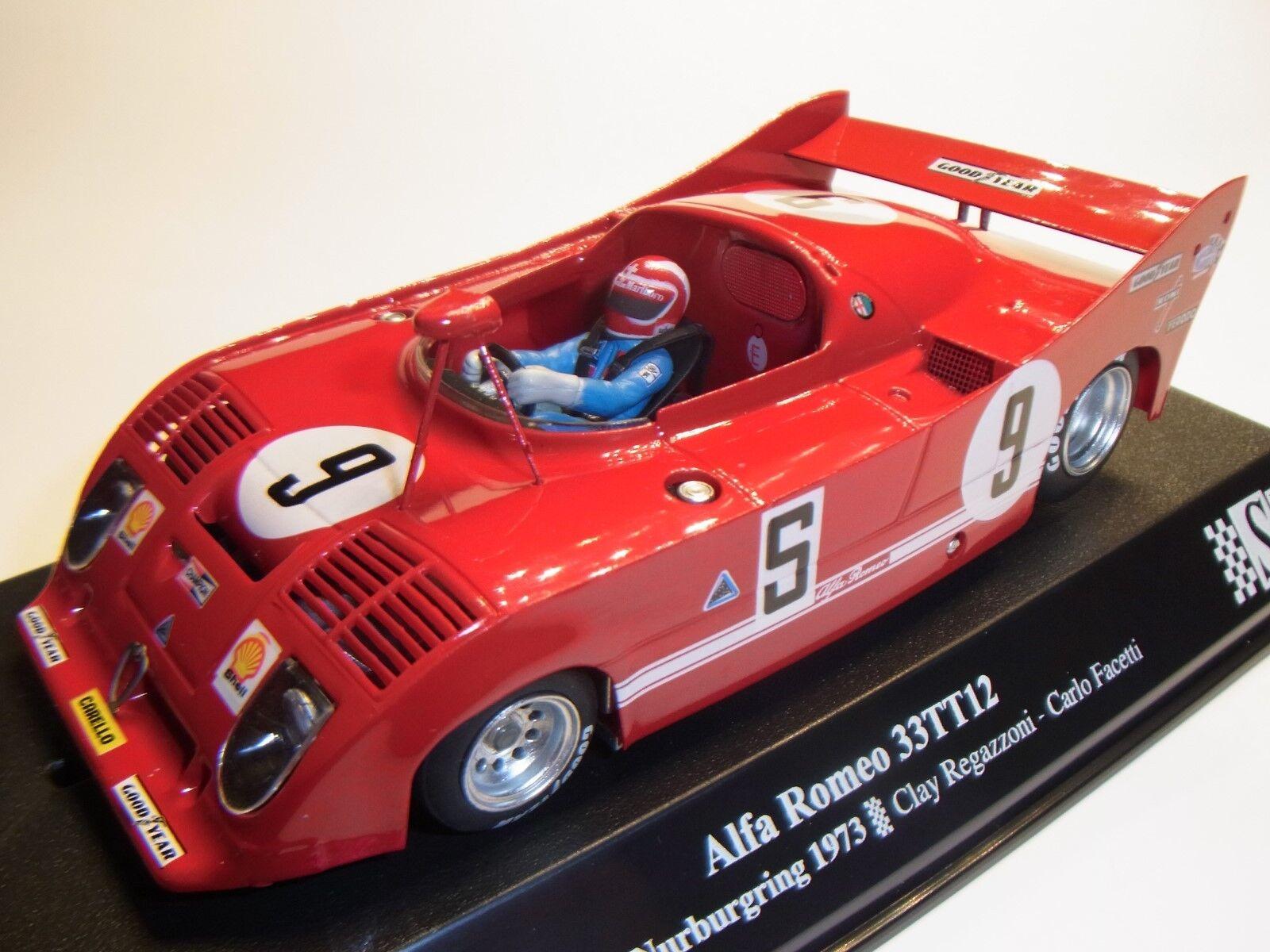 SRC ALFA ROMEO 33TT12 Nürburgring  9 1973 1 3 2 SLOTCAR PISTA PER AUTO SRC 00802