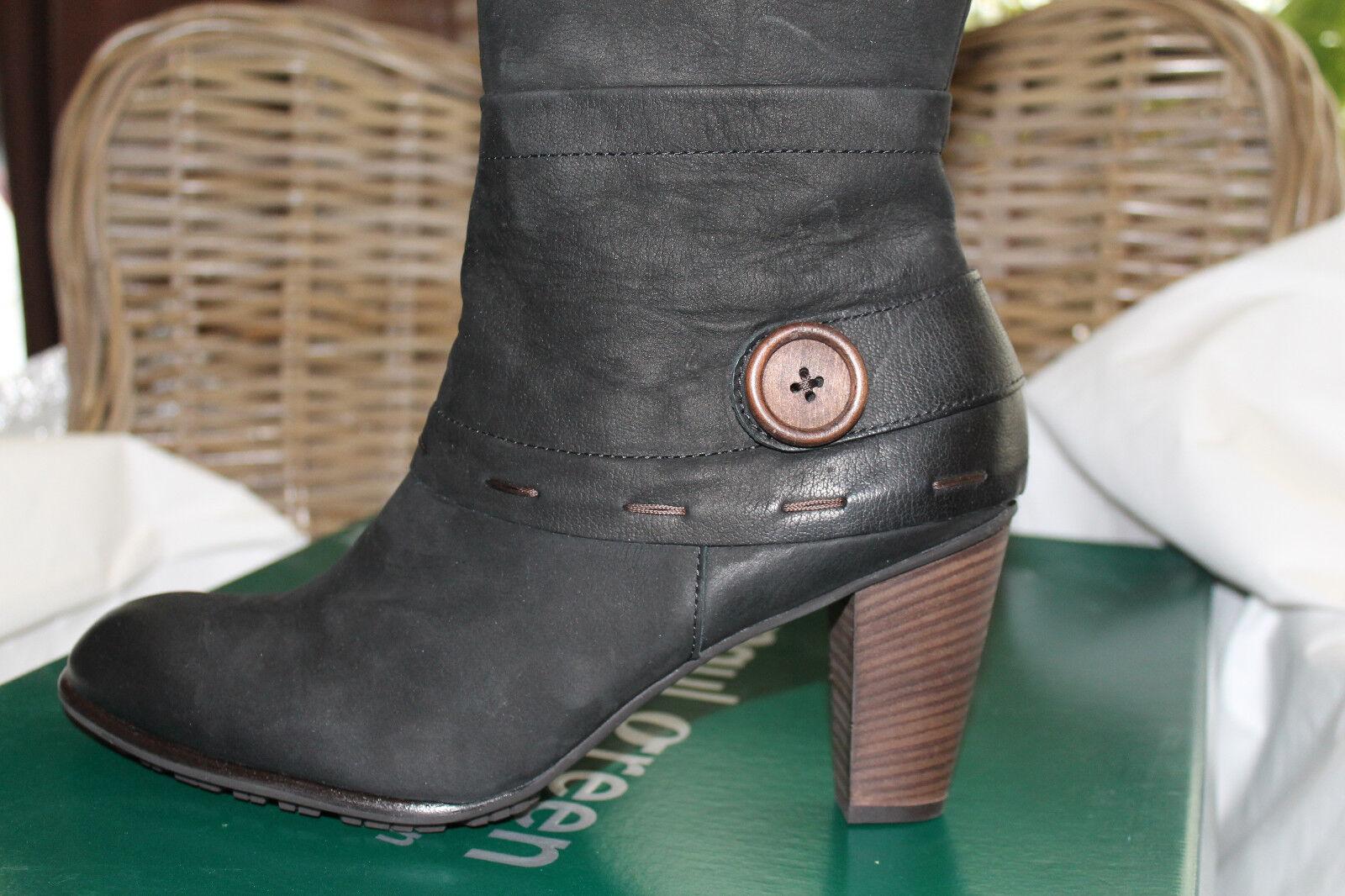 PAUL GREEN Stiefel Größe: 39 -neu- (6) Farbe: schwarz Nubukleder -neu- 39 49dfc5