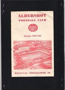Aldershot-vs-Wrexham-Match-programme-21st-October-1967