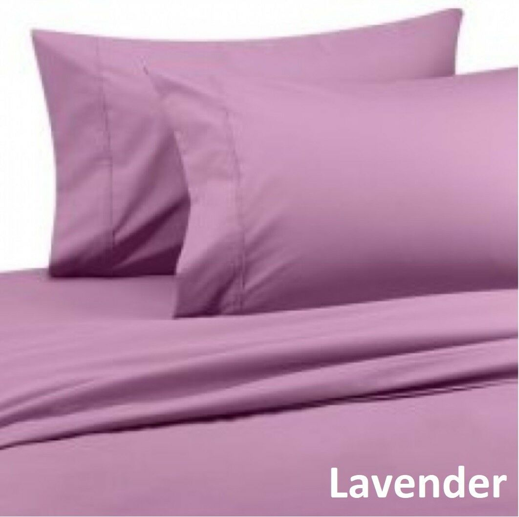 1000 TC Decent Bedding Collection 100%Cotton US Sizes Lavender Solid
