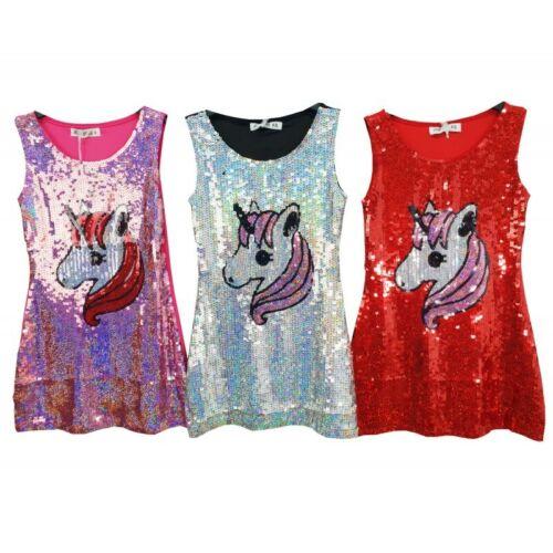 GIRLS UNICORN SEQUIN DRESS
