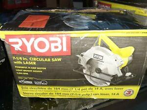 RYOBI-14-Amp-7-1-4-in-Circular-Saw-with-Laser-CSB135L-SLIGHTLY-used