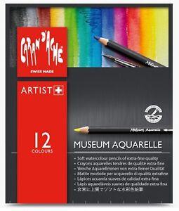 Caran dache museum aquarelle soft aquarelle crayon set de 12 couleurs assort  </span>