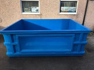 900 gallon fibreglass koi vatholdingtank pond quarantine for Koi pond window