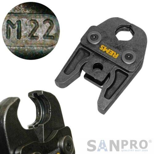 Rems 570130 Mandíbula M 22 Tenazas de Prensar M22 - P. Ej. para Acero Inoxidable
