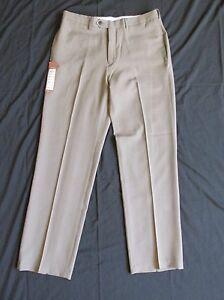 2956c6d3d0 Dettagli su Nuovo da Uomo Haggar Marrone Scuro Pantaloni Eleganti/Sportivi  Taglio Classico
