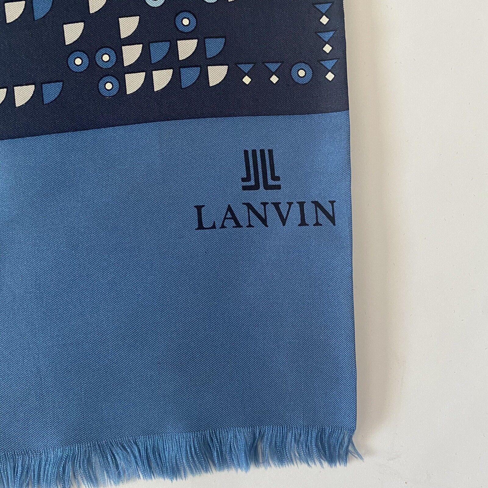 Vintage 70s Lanvin Geometric Silk Scarf - image 2