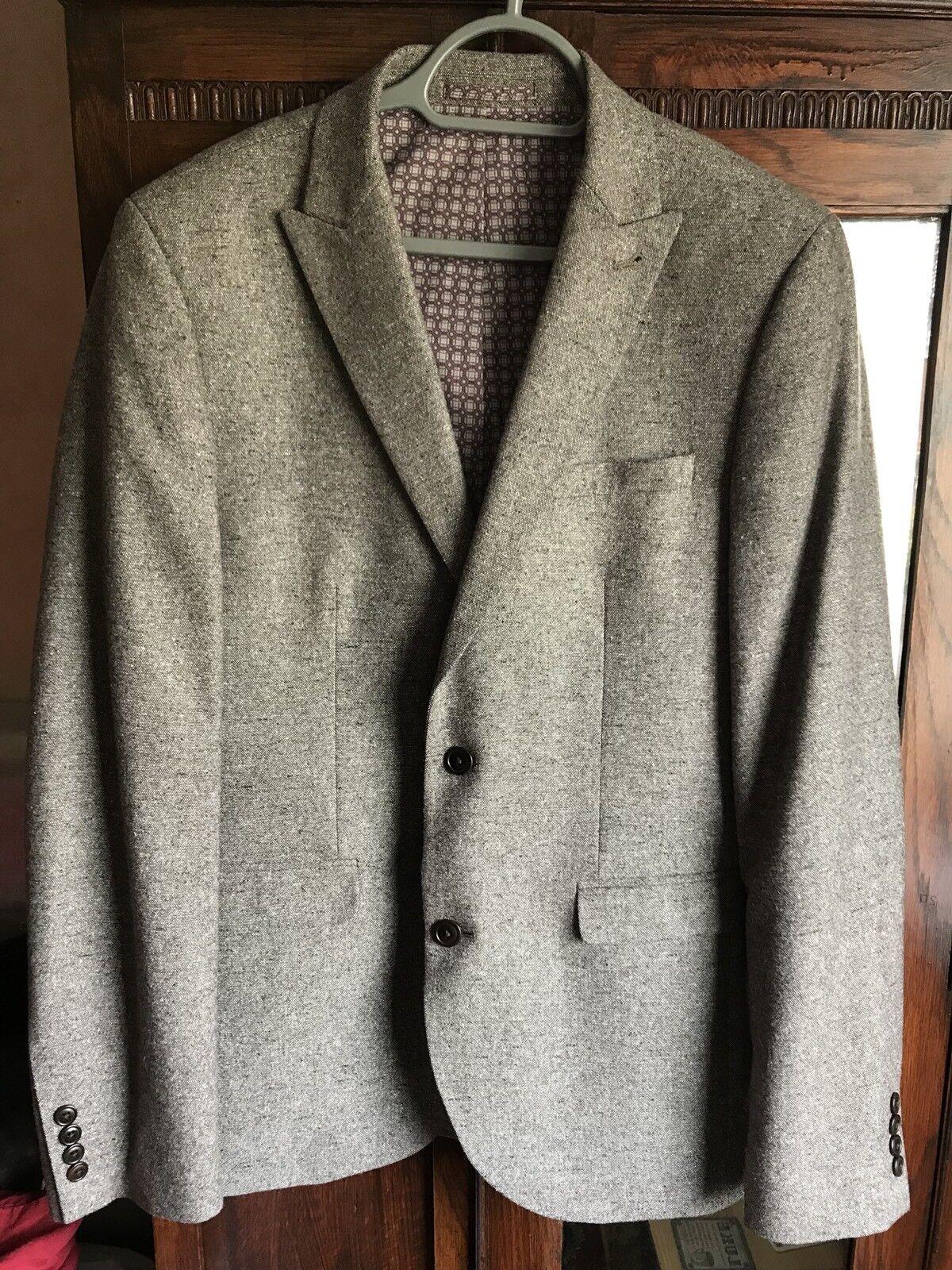 Mens Light Brown Wool Next Suit Size 40L Blazer 32W Trousers Rrp