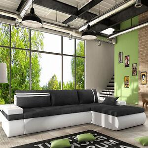 ecksofa orlando mit schlaffunktion sofa couchgarnitur eckcouch sofagarnitur ebay. Black Bedroom Furniture Sets. Home Design Ideas