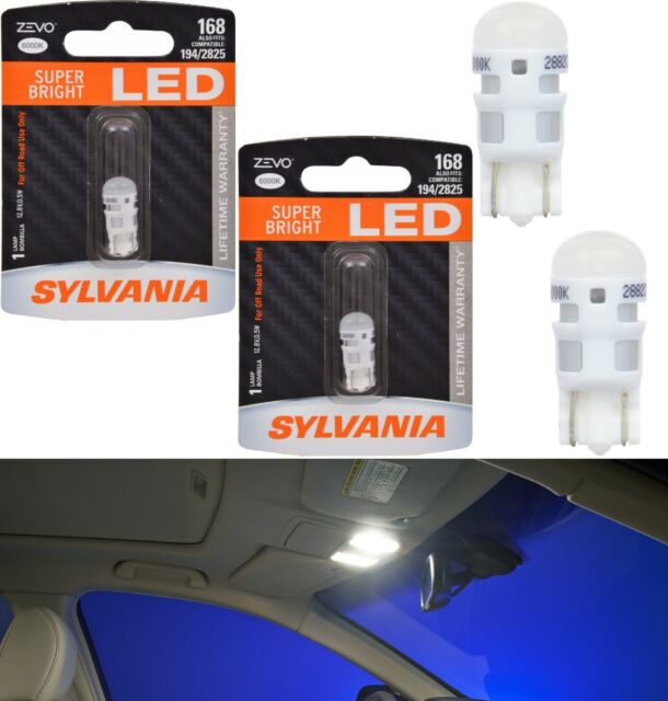 Sylvania ZEVO LED light 168 White 6000K Two Bulbs Interior Map Replacement Fit