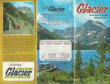 Glacier National Park Montana Vintage Brochure Color Photos Map Accommodations