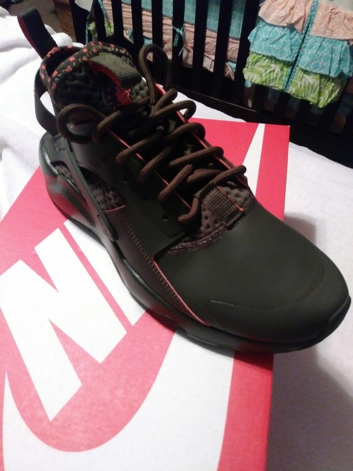 Men's nike air huarache run ultra se casual shoes olive green