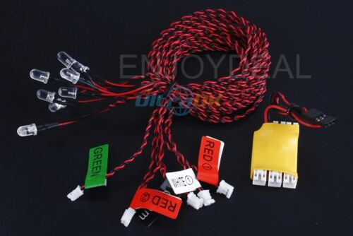 Cool 8-LED LED Flashing Light bulb System for RC Helicopter Plane Glider boat