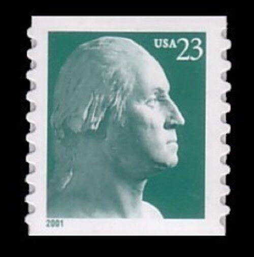 2001 23c George Washington, Coil Scott 3475a Mint F/VF