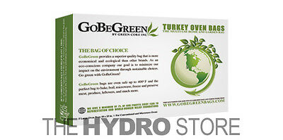 "50 100 Pack GoBeGreen Turkey Oven Bags 25 75 odor 18/"" x 25/"" sheets"