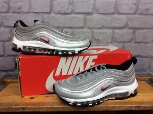 buy online bfc94 e5b81 Détails sur Nike UK 4 EU 36.5 air max 97 og qs Silver Bullet Baskets  Enfants Femmes- afficher le titre d origine