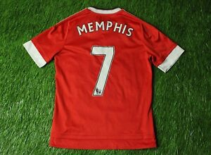 d0c7c7d9d Image is loading MANCHESTER-UNITED-7-MEMPHIS-2015-2016-FOOTBALL-SHIRT-