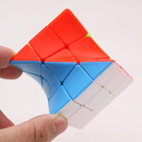 Z-CUBE Magic Cube 3X3x3 Twisted Irregular Skewb Diamond Puzzle Interesting Toy