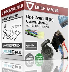 Opel Astra H Fließheck ab 2004 13pol.E-Satz REC Anhängerkupplung starr AHK