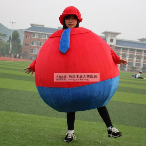 Red Ball Mascot Costume Suit Cosplay Party Game Dress Outfit Halloween 1pc Adult