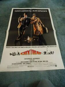 CITY-HEAT-1984-CLINT-EASTWOOD-ORIGINAL-ONE-SHEET-POSTER-27-034-BY41-034