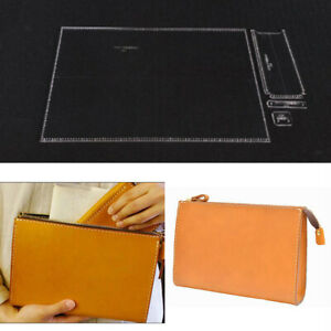 4Pcs Leather Clear Acrylic Shoulder Bag Handbag Pattern Stencil Template DIY