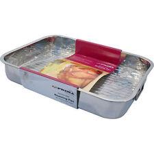 Tostature VASSOIO FORNO PAN Dish Baking Casseruola TIN grill in acciaio INOX 32cm MEDIUM
