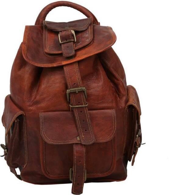 Men/'s Vintage Genuine Leather Laptop Backpack Rucksack Messenger Bag Satchel NEW
