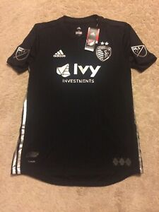 New-Men-039-s-2018-19-Adidas-Sporting-KC-Away-Authentic-MLS-Soccer-Jersey-Medium