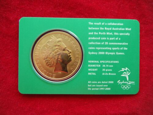 HANDBALL 12//28 $5 UNC RAM Coin Sydney 2000 Olympic Coin Collection