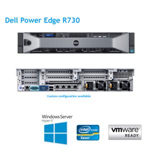 Dell-PowerEdge-R730-2-x-E5-2670-V3-2-30Ghz-12-Cores-128GB-RAM-H730-RACK-KIT-ferroviario