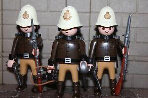 Britannique-Soldats-Etat-Parfait-Uniforme-Custom-Playmobil-XX2